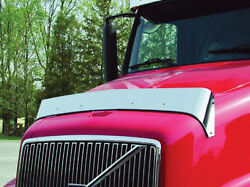 Volvo Day Cab/420/610/660/770 Stainless Steel Hood Shield Bug Deflector