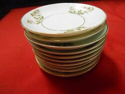 Rare...magnificent Vintage Noritake Nippon M Handpainted 12 Butter Spats