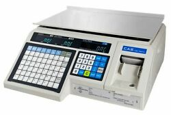 Cas Lp-1000n Ntep Label Printing Market Deli Food Scale And Labels Brand New