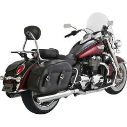 Vance And Hines Chrome Twin Slash Slip On Mufflers Exhaust For Triumph Commander