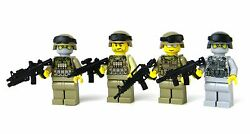 Us Military Army And Marine Pack Custom Soldiers Made With Real Lego