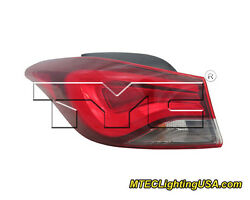 TYC NSF Left Side Tail Light Assembly for Hyundai Elantra Limited Sport 14-15