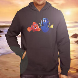 Finding Dory And Nemo Cartoon Cute Cool Hooded Sweater Jacket Pullover Hoodie