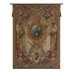 Grandes Armoiries Red French Tapestry Wall Hanging
