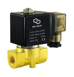 Brass Direct Acting Fast Response Electric Solenoid Valve 1/4 Inch 110v Ac Nc