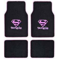 Official Products Wb Supergirl Floor Mats For Car Suv - Fan Mats 4 Piece Carpet