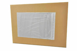 4.5 X 5.5 Clear Packing List Plain Face Packing Supplies Envelopes 1000 Pieces