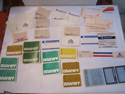 Vintage Lot Of Braniff Airlines Stickers And Muse Air And Other Airlines Stuff - Rh4