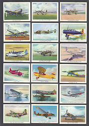 Cigarette Cards.brown And Williamson Wings.mod.american Airplanes.set C.1938