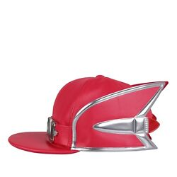 825 Moschino Couture X Jeremy Scott Cadillac Snapback Red Leather Hat Cap Rare
