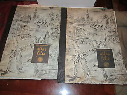 1958 And 1959 Atlas Folios - National Geographic - Loaded With Loose Maps -