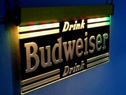 H027 Budweiser Neon Signs Led Light Beer Bar Pub Man Cave Vintage Style Classic