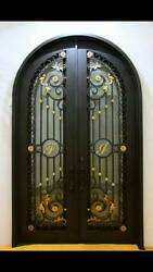 Hand Crafted 12 Gauge Wrought Iron Doors by Monarch Custom Doors 72