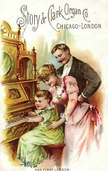W.s Holmes And Co Music Dealers Story And Clark Organ Co. Lady Man Babyand039s Lesson Z9