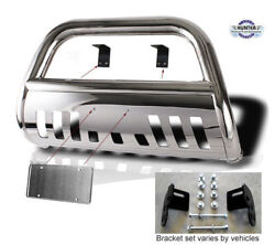 1997-2003 F150 4x4 4wd Chrome Guard Push Bull Bar In Stainless Steel Bumper