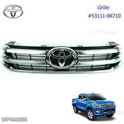 Chrome Front Grille Grill Oem Genuine For Toyota Hilux Revo Ute 2015 2016 2017