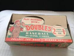 1951 Topps Doubles Baseball Card Red Back Set Empty Display Wax Pack Box