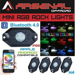 No1 Rgb Led Rock Lights By Arsenal Offroad Cree Xte-3535 Led's Bluetooth 4.0 16