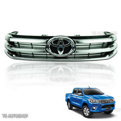 Chrome Front Grille Grill Trim Genuine For Toyota Hilux Revo Ute 2015 2016 2017
