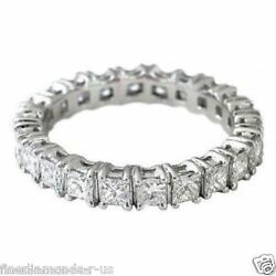 2.00ct Princess Cut Diamonds Full Eternity Wedding Ring9k White And Yellow Gold
