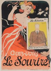 Original Vintage French Poster Le Sourire By Grun 1905