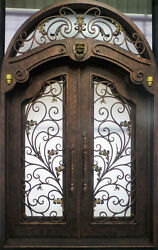 Hand-Crafted 12 Gauge Wrought Iron Entry Door by Monarch Custom Doors 72