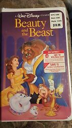 BEAUTY and the BEAST VHS by Walt Disney 1992 (RARE) 5 Day Sale