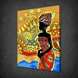 African Lady Landscape Canvas Print Picture Wall Art Variety Of Sizes Available