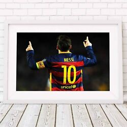Lionel Messi -football Soccer Poster Picture Print Sizes A5 To A0 Free Delivery