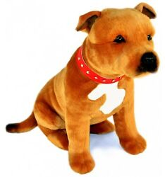 Sitting Staffordshire Bull Terrier Staffy Pet Dog Plush Toy - Lester From Bocche