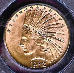 Gem 10 1932 Indian Gold Coin Pcgs Pq64 - Free Shipping And Insurance