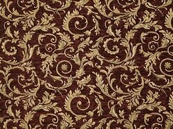 Chenille Upholstery treasure Saxxon floral Leaf Drapery home fabric yd 56quot; Wide