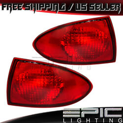 2000-02 Chevrolet Cavalier Rear Outer Brake Taillights - Left Right Sides Pair