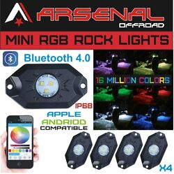 1 Rgb Led Rock Lights By Arsenal Offroad, Cree Xte-3535 Led's Bluetooth 4.0 16