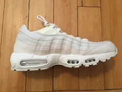 Size 11.5 Nike Men Air Max 95 Prm Shoes 538416 100 White And Off-white