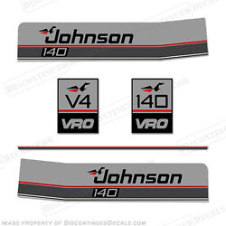 Johnson 1987-1988 140hp V4 Vro Decal Kit - Discontinued Decal Reproduction