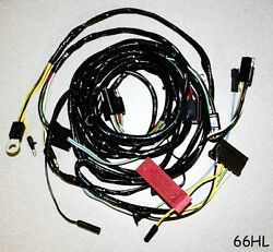 New 1966 Ford Mustang Firewall To Headlight Wire Loom Harness Free Shipping
