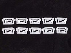 77-92 Cadillac Chevy Buick Rear Window Glass Trim Molding Moulding Clips 10pc E