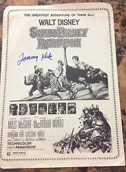 Walt Disney Swiss Family Robinson Original Poster Signed By Tommy Kirk