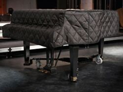 Steinway Quilted Grand Piano Cover For 5'10-3/4 Steinway Model L Black