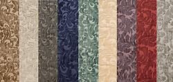 Chenille floral Shelby Drapery Upholstery home fabric the yard 56quot; Wide 9 COLORS