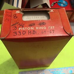 Ford Piston Rings, 330hd, 8 Cylinder, 3 7/8 Bore, Std.  Item 4381