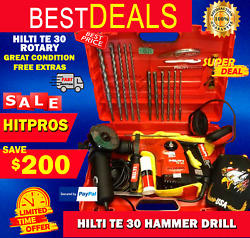 Hilti Te 30 Rotary Hammer Drill L@@k Preowned Great Condition. Fast Shipping