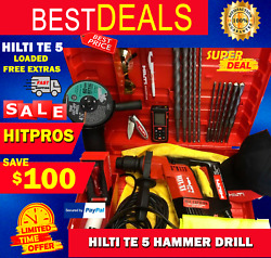 Hilti Te 5 Preowned, Loaded, Free Extras, Durable, Fast Shipping