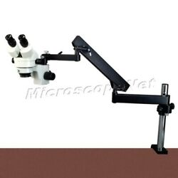 7-45x Zoom Stereo Microscope+articulating Arm Stand+metal Shell 144led Ring Lite