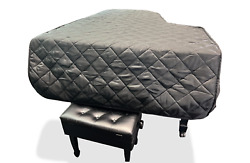 Steinway Quilted Grand Piano Cover For 5'10-3/4 Steinway Model O Black