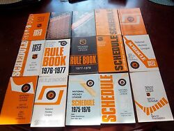 Official Nhl Schedule And Final Stats + Rule Books Series From 1970 - 1979