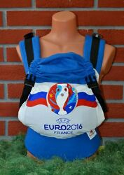 Exclusive Ergonomic Ergo Baby Carrier, Hand Painted Football Euro-2016 France