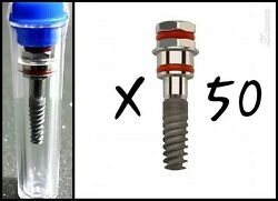 50 Dental Implant Spiral Sterile Internal Hex System Free Shipping Ce+iso