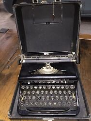 Vintage 1930's Royal Typewriter Portable Touch Control W Case Nice